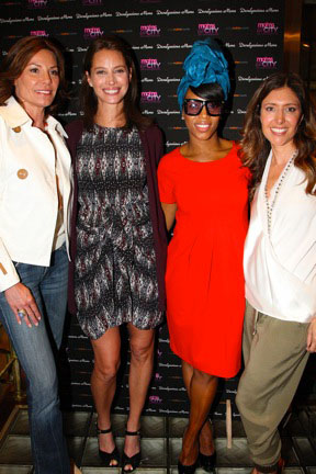 Luann De Lesseps, Christy Turlington, June Ambrose
