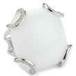 "Buy Nicky Hilton ""Bryant Park"" Sterling Silver White Jade Ring, $120"