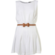 Buy Topshop White Pleated Bow Belt Playsuit, $106