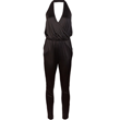 Buy Halston Heritage's Black Satin-Jersey Jumpsuit, $355