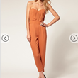 Buy ASOS Pleated Bust Jumpsuit, $95