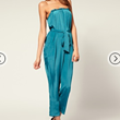 Buy ASOS Tuck Bandeau Peg Jumpsuit, $69
