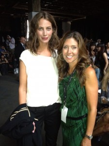 Christy Turlington and Melissa at rag & bone.