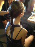 An Aveda braid at the Birchbox Sample Stop.