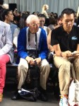 The iconic photographer Bill Cunningham at rag & bone.
