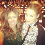 Melissa front row with Lauren Conrad at Rebecca Minkoff.