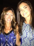 Katie Lee and Melissa at the Tracy Reese show.