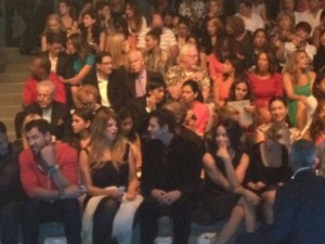 Kirstie Alley enjoying a lollipop front row at Zang Toi.
