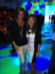 The Countess LuAnn DeLesseps and Melissa at Strut, The Fashionable Mom Show.